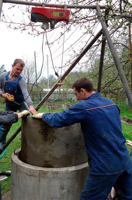 Как мы углубляем колодец в Подольском районе