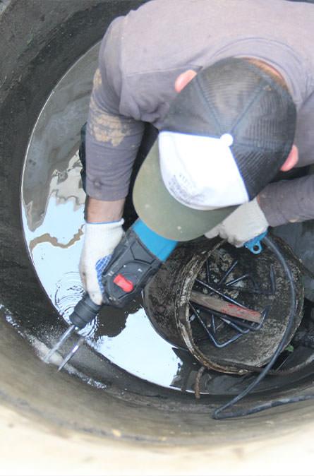 Как мы выполняем ремонт колодцев в Подольском районе